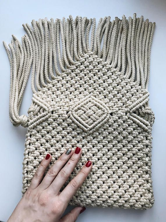 Stunning macrame bag is suitable for your bright summer fashion style. On light