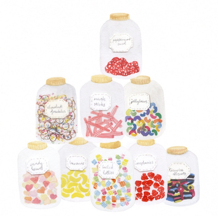 Illustration / LOLLY JARS via Etsy