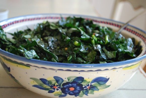 asian-inspired raw kale salad. | *Tongue Ticklers | Pinterest