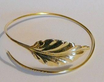 Arm Band-Hammered bovenste Arm Band  goud zilver Manchet