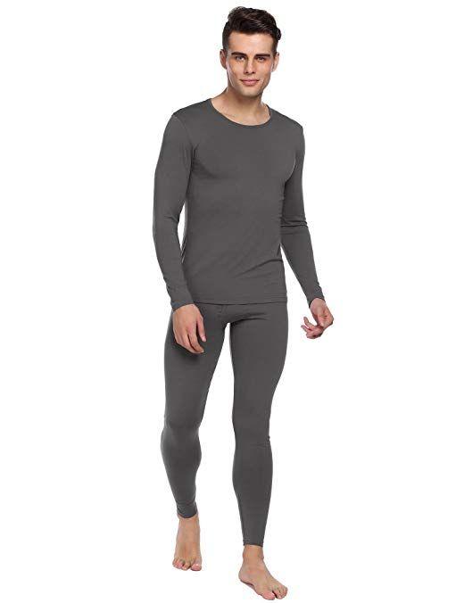 c02548698fb5 Ekouaer Men's Long Thermal Underwear Fleece Lined Winter Long Johns Base  Layer Set S-XXL Review
