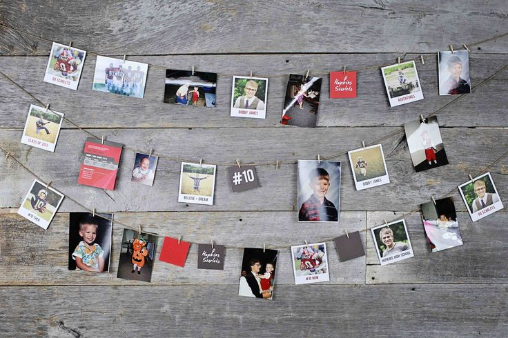 All Star Graduation Party Ideas - using our graduation party decorations to share your photos through the years