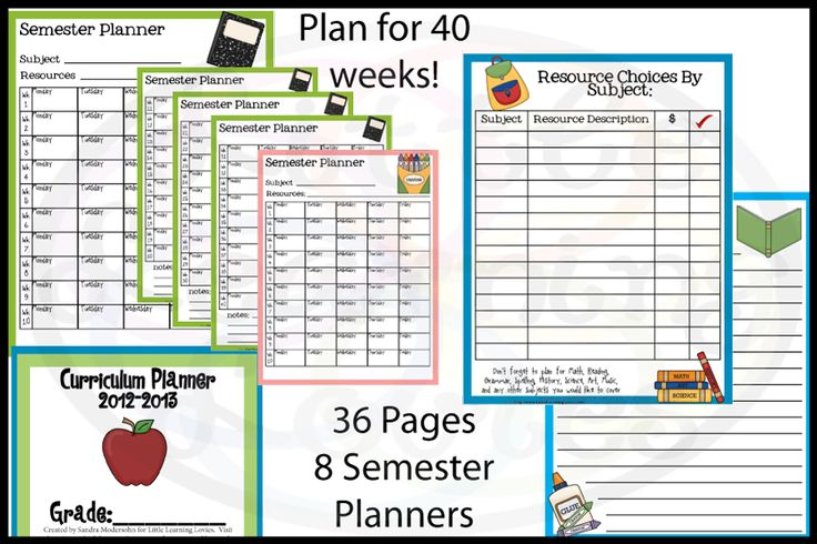 FREE Curriculum planner -- Plans out a full 40 week school year in one easy space so you know what will fit into your year and what won't...