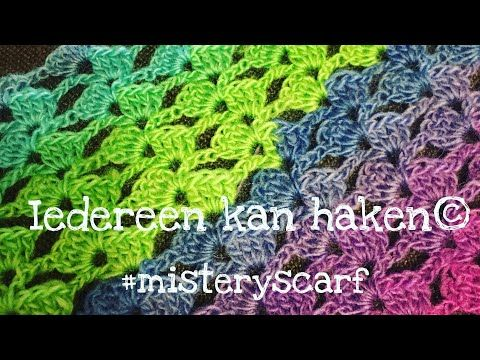 5 Iedereen Kan Haken How To Crochet The Misteryscarf Simple With