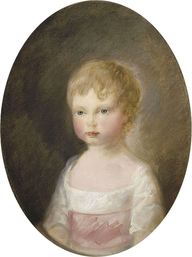 With Janice Hadlow in A Royal Experiment.   Prince Alfred of Great Britain - Son of George III, King of Great Britain. Aged 2.