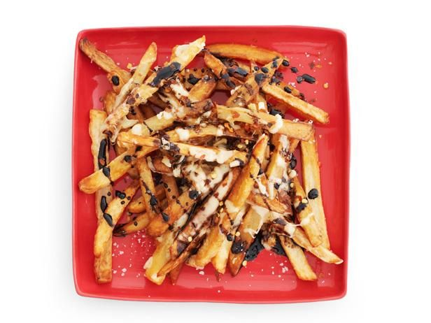 Alley Fries with Balsamic Glaze #FNMag: Food Network, Red Peppers, Side Dishes, Network Magazines, Balsamic Glaze Recipes, Foodnetwork Com, French Fries, Home Fries, Alley Fries