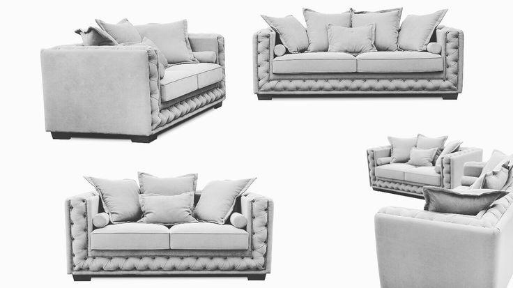 Καναπές ΓΟΝΔΟΛΑ με χειροποίητο καπιτονέ. Κλασσικός σχεδιασμός για το καθιστικό σας • www.epiplaromanos.gr/epipla/gondola • #epiplaromanos #sofa #kanapes #blackandwhite #bnw #classic #paddedsofa #padded