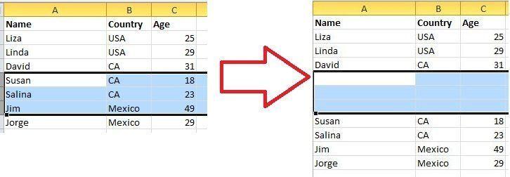 Comment ajouter plusieurs lignes ou colonnes en meme temps Excel