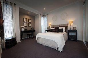 a bedroom paradise in warm tones