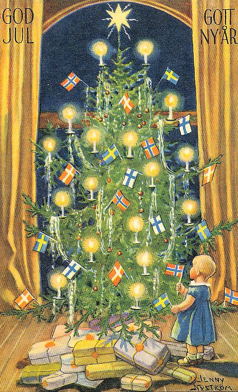 Jenny Nystrom - Swedish - vintage Christmas postcard