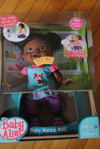 New Baby Alive Doll Wanna Walk Interactive W Bonus
