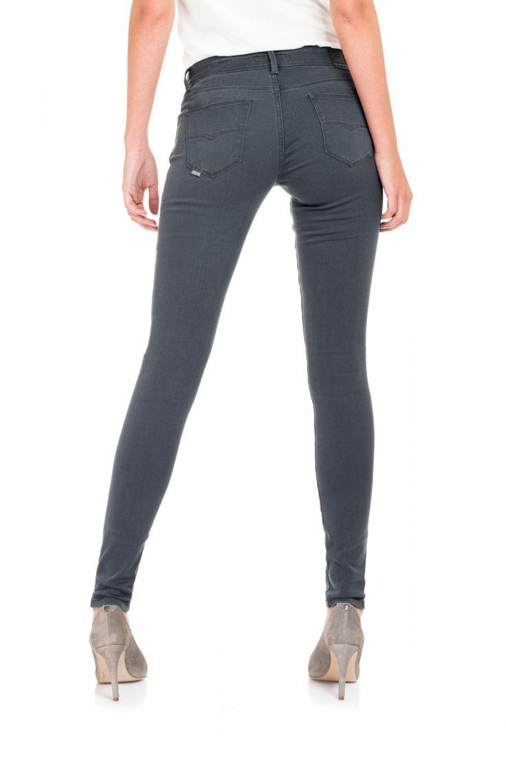 Pantalones Vaqueros Colette Gris super pitillo y cómodos - Salsa
