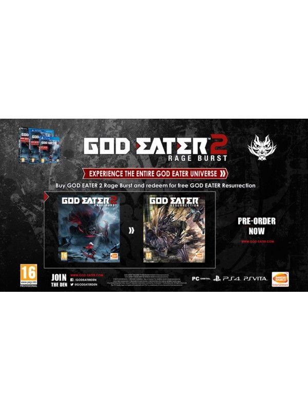 Игра GOD EATER 2: RAGE BURST + GOD EATER RESURECTION за PS4