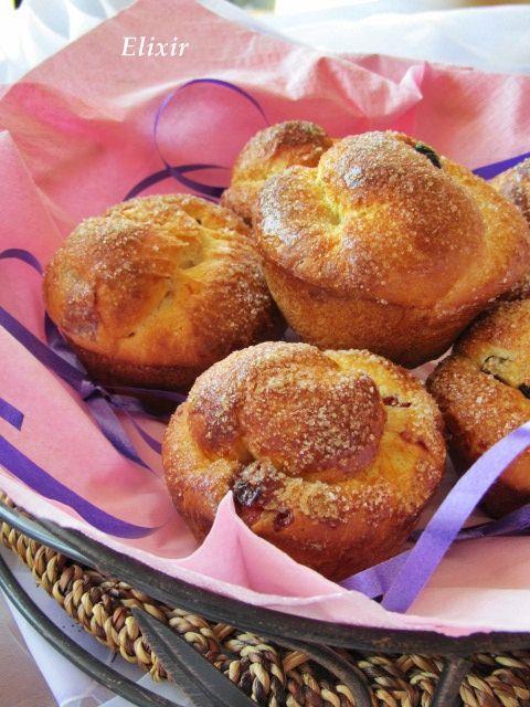 Кулинарен еликсир: козуначени мъфини с  вишнево сладко и  сушени боро...