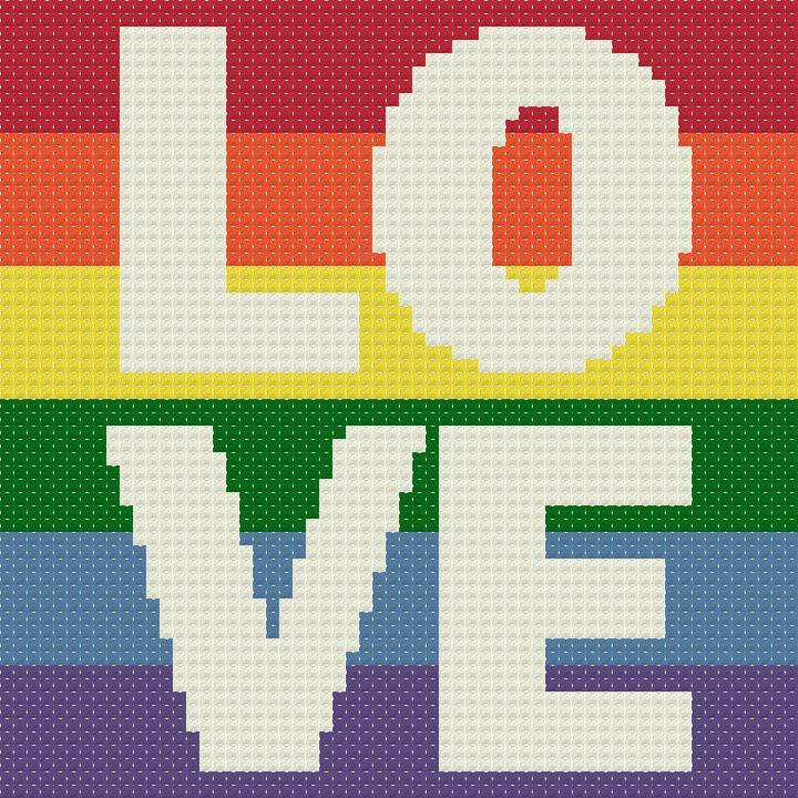 love is love marriage equality celebration free cross stitch pattern