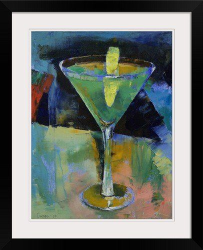greatbigcanvas sour apple martini by michael creese photographic print with black frame 18 x 24