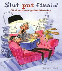 """""""Slut put finale"""" er en børnebog med ni gode godnathistorier skrevet af en lang række kendisser indenfor Stand up comedy, skuespil, forfattere, illustratorer og musikere. Klik på forsidefotoet for at læse mere om bogen og for at se hvem, der er kunstnerne bag denne underholdende bog med gode godnathistorier."""