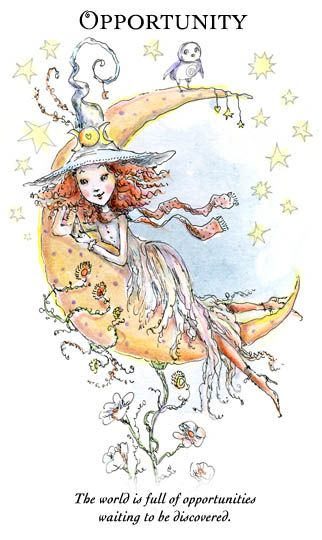 """☆ Witchling: Opportunities """"The world is full of opportunities waiting to be discovered."""" -::- Artist Paulina Cassidy ☆"""