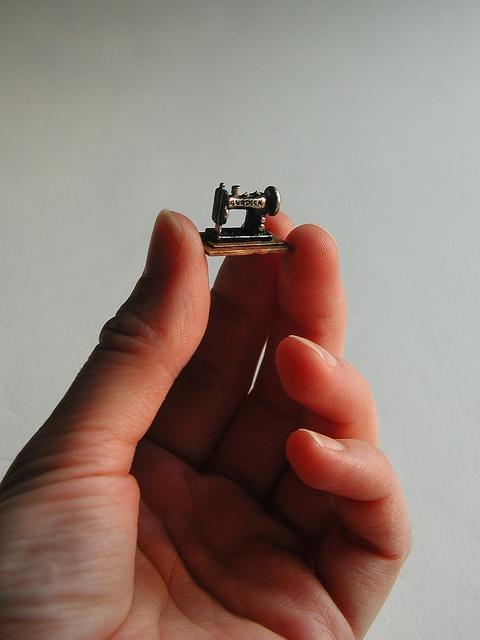 """Burdick"" sewing machine, 1:24 scale by graceewhite, via Flickr"