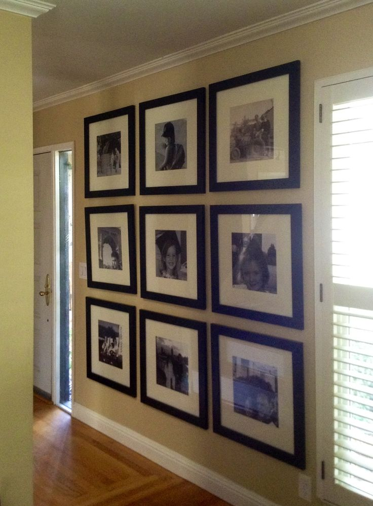 My new favorite photo wall! Frames from IKEA, and photos can be changed or updated. These are a few of my favorite family pics.