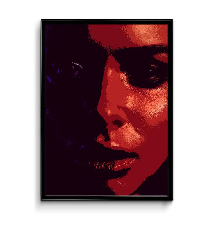 Red and Black Fashion Portrait Wall Art, Printable Wall Art, Fashion Wall Art, Digital Poster, Modern Wall Art, Women Portrait Art by InvitationsPrintByV on Etsy