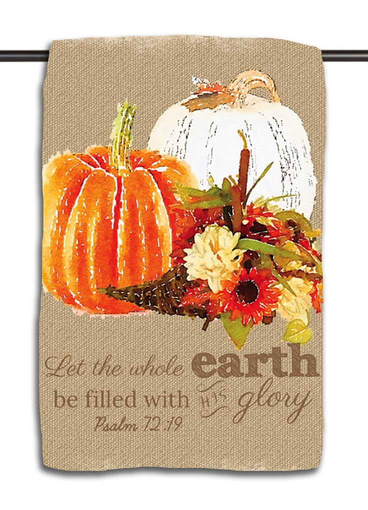 Psalm 72.19 Pumpkins - Taupe Medallion Towel