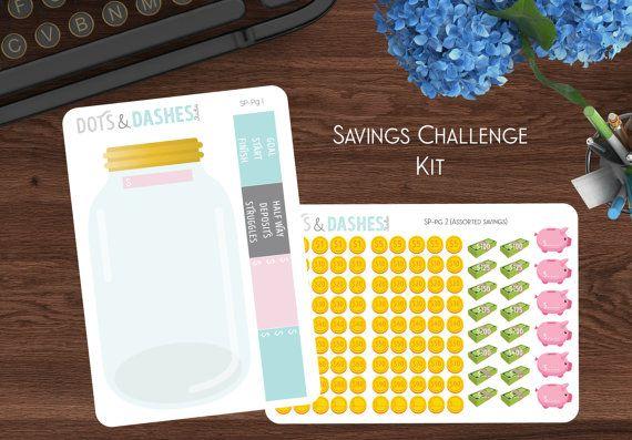 SP  besparingen uitdaging Kit 52 week door DotsandDashesStudio