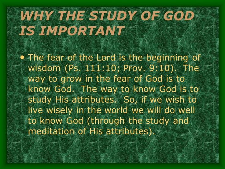 This Fear of GOD in the original definition means awe reverence and respect to GOD