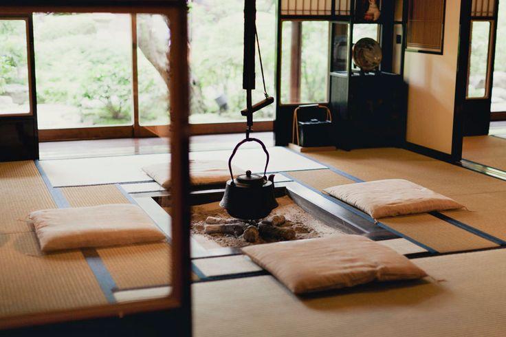 Japanese Tea House; Park & Cube at the Perrier Jouet day, Happo-en Garden, Tokyo.
