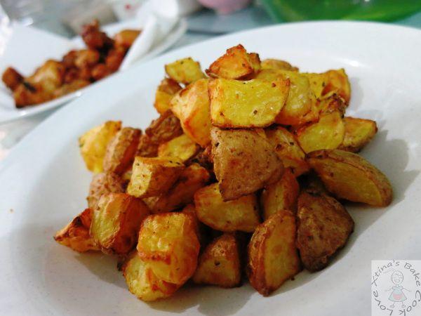 Air-fried Potato Cubes