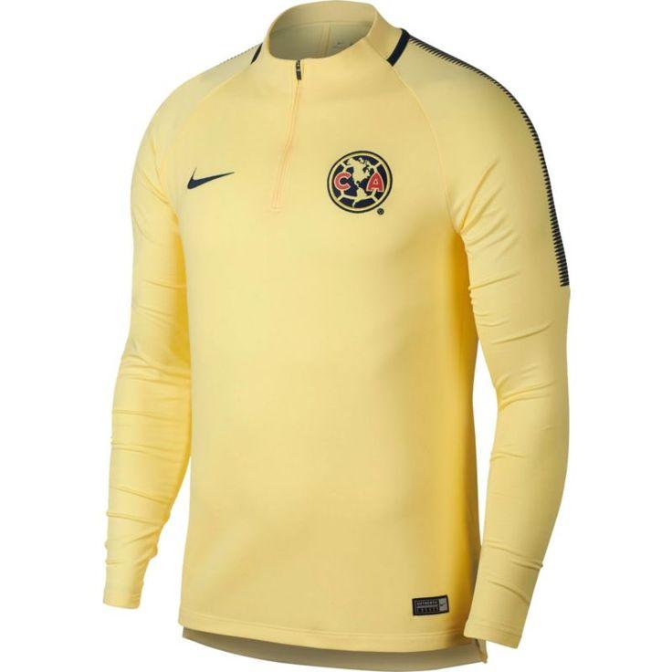 19c71774699 ... Nike Mens Club America Squad Drill Dry Yellow Quarter-Zip Top, Size Medium  2017 Women Jerseys ...