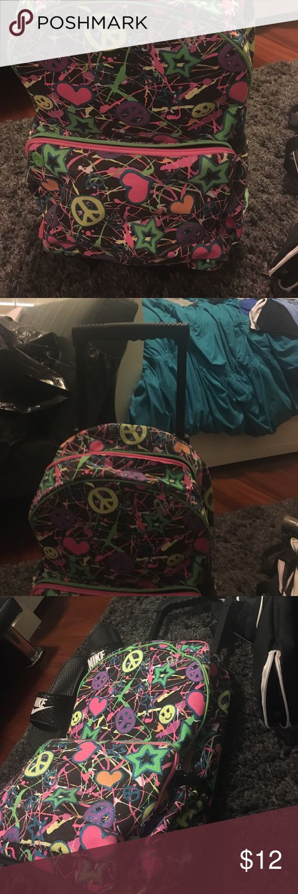 Justice gently used backpack with wheels Cute justice backpack with wheels and handle Justice Other