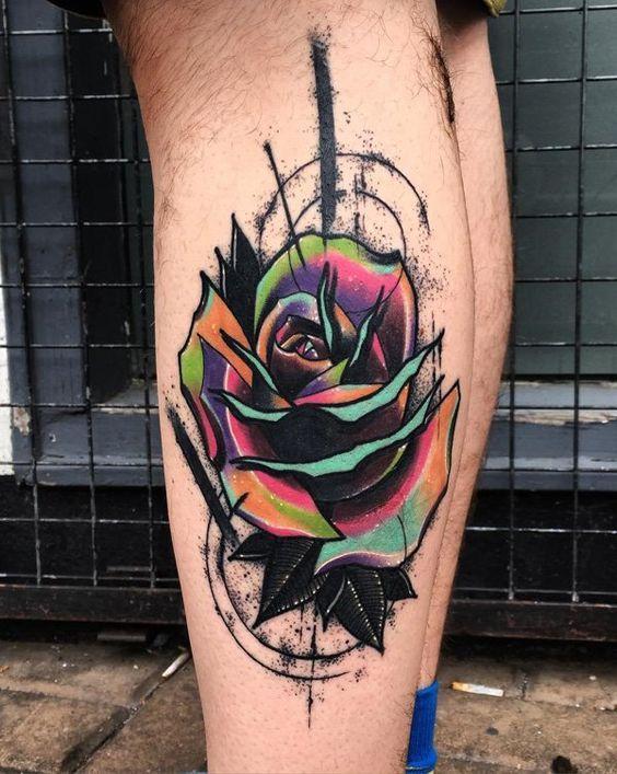 Rose leg tattoo for men - 100+ Meaningful Rose Tattoo Designs  <3 <3