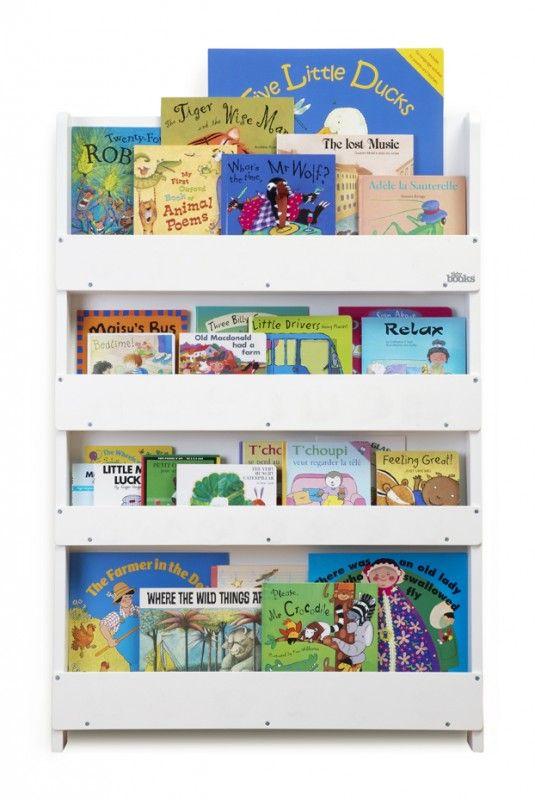 Aufbewahrung im Kinderzimmer | Preisgekröntes Bücherregal für ca. 80 Bücher, weiss, aus Holz, von Tidy Books