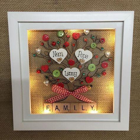 9 LED light box frame personalised family tree scrabble