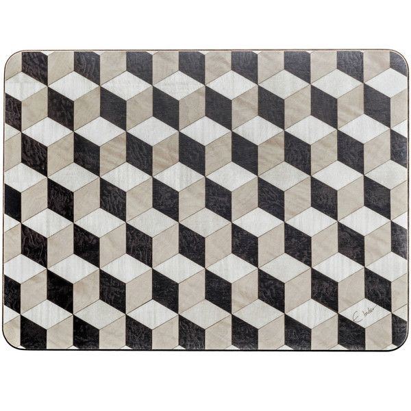 Black Place Mats black white beige placemats Melamine table mat... ($45) ❤ liked on Polyvore featuring home, kitchen & dining, table linens, rectangular placemats, birthday placemats, black placemats, rectangular table linens and colored placemats