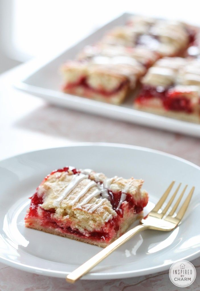 Cherry Cream Cheese Bars - perfect for breakfast, brunch, or a delicious dessert!