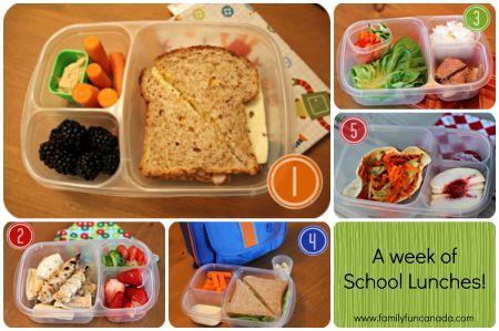 School lunch ideas! Yay for inspiration!  http://www.familyfuncanada.com/a-week-of-unique-school-lunches/