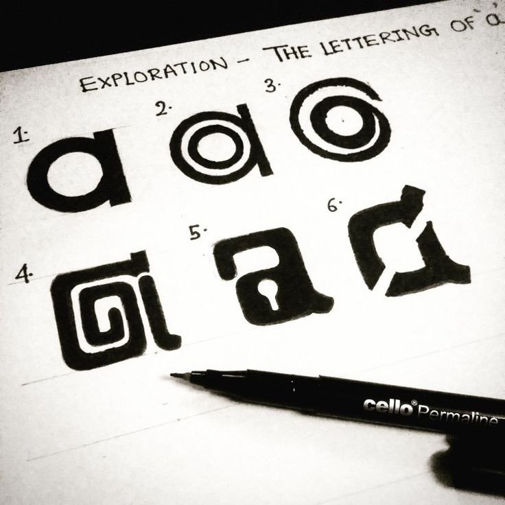 Exploring the a lettering logo concept instagram photo