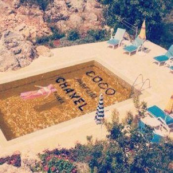 The Zhush: Coco Chanel, Swimming Pools, Chic, Perfume Bottle, Summer, Chanel Pool, Chanel Swimming