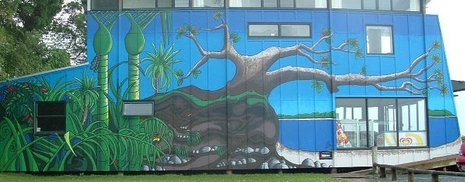 The original Shelly Beach mural