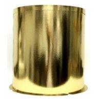 Фотография Упаковка для тортов Коробка золото/золото круглая d=400mm, h=545mm