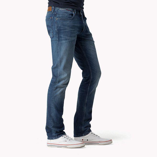 Hilfiger Denim Tapered Fit Jeans - rivington mid comfort (Blauw) - Hilfiger Denim Toelopende Pijpen - detailbeeld 2