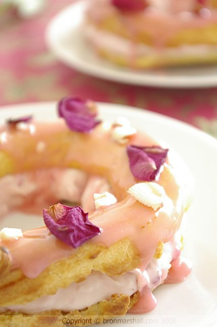 Pink Paris Brest - recipe.  An easy, truly elegant, delicious dessert with a twist that will wow your guests!