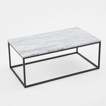 Box Frame Coffee Table - Marble/Antique Bronze #westelm