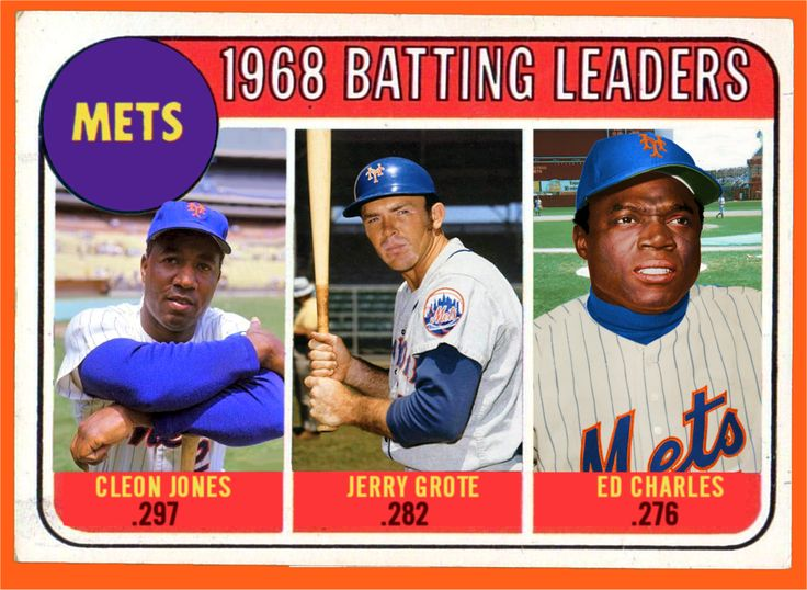 Mets Baseball Cards Like They Ought To Be!: 1968 Mets Team Leaders ...
