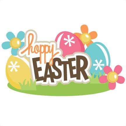 Hoppy Easter Title SVG scrapbook title easter svg files easter eggs svg files free svgs