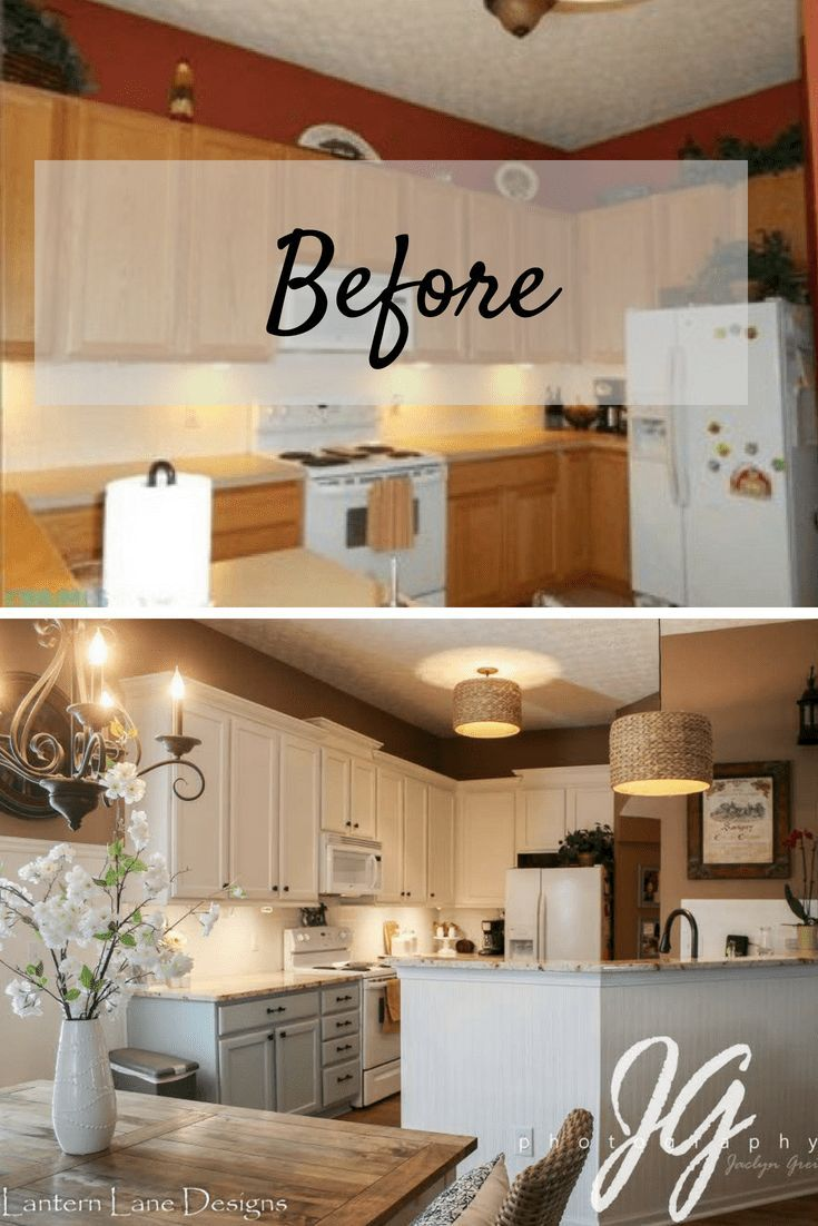 How To Remodel Your Builder Grade Kitchen On A Budget With Images