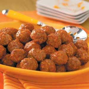 All Day Crock Pot Meatballs  Another great Taste of Home Crock Pot recipe!  Prepare these the night before and place in your crock in the refrigerator.  Place in crock pot cooker the next morning and let cook 6-8 hours on low.  Yummy and easy!