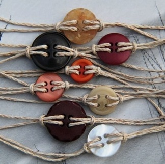 Button bracelets..Great for all those buttons that are just lying around.